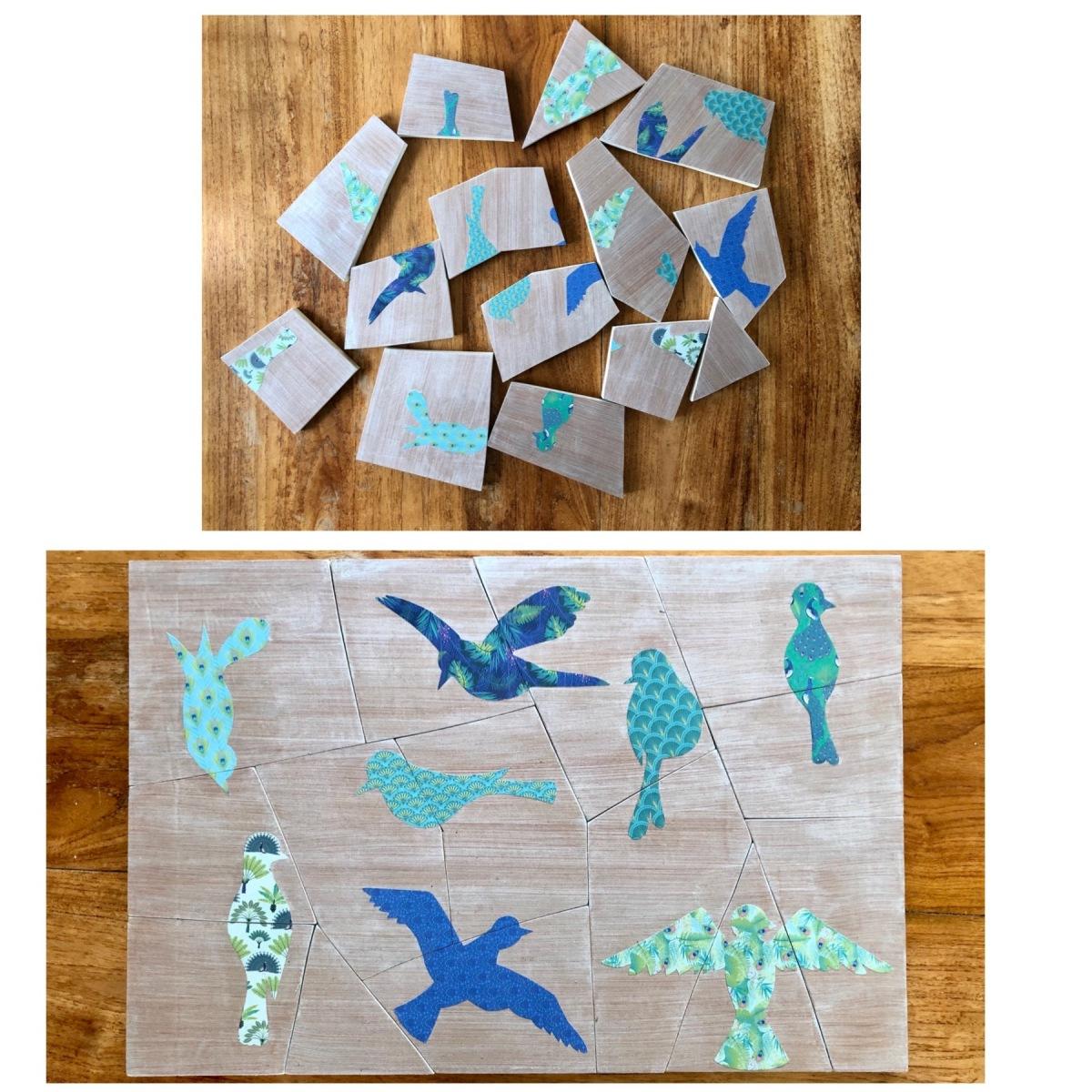 Puzzle les oiseaux (petit jeu)